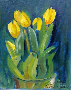 0903-Tulipány-olej na plátně 25x30