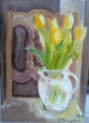 1192-Tulipány- olej na plátně 40x30