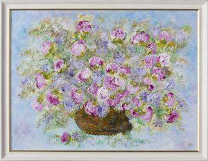 Kvety v košíku Basket of Flowers