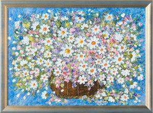 Lúčne kvety v košíku Basket of Meadow Flowers