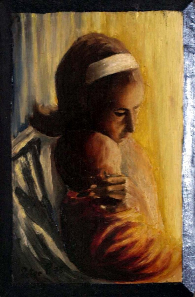 Madonna and Child - Oil Painting /1975/ by Peter Pavluvcik.