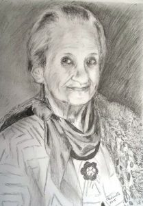 Pencil Drawing by Peter Pavluvcik - mother 2015
