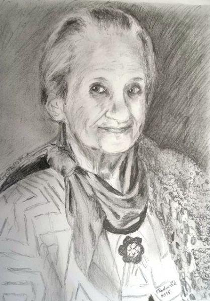 Pencil Drawing by Peter Pavluvcik - mother 2015