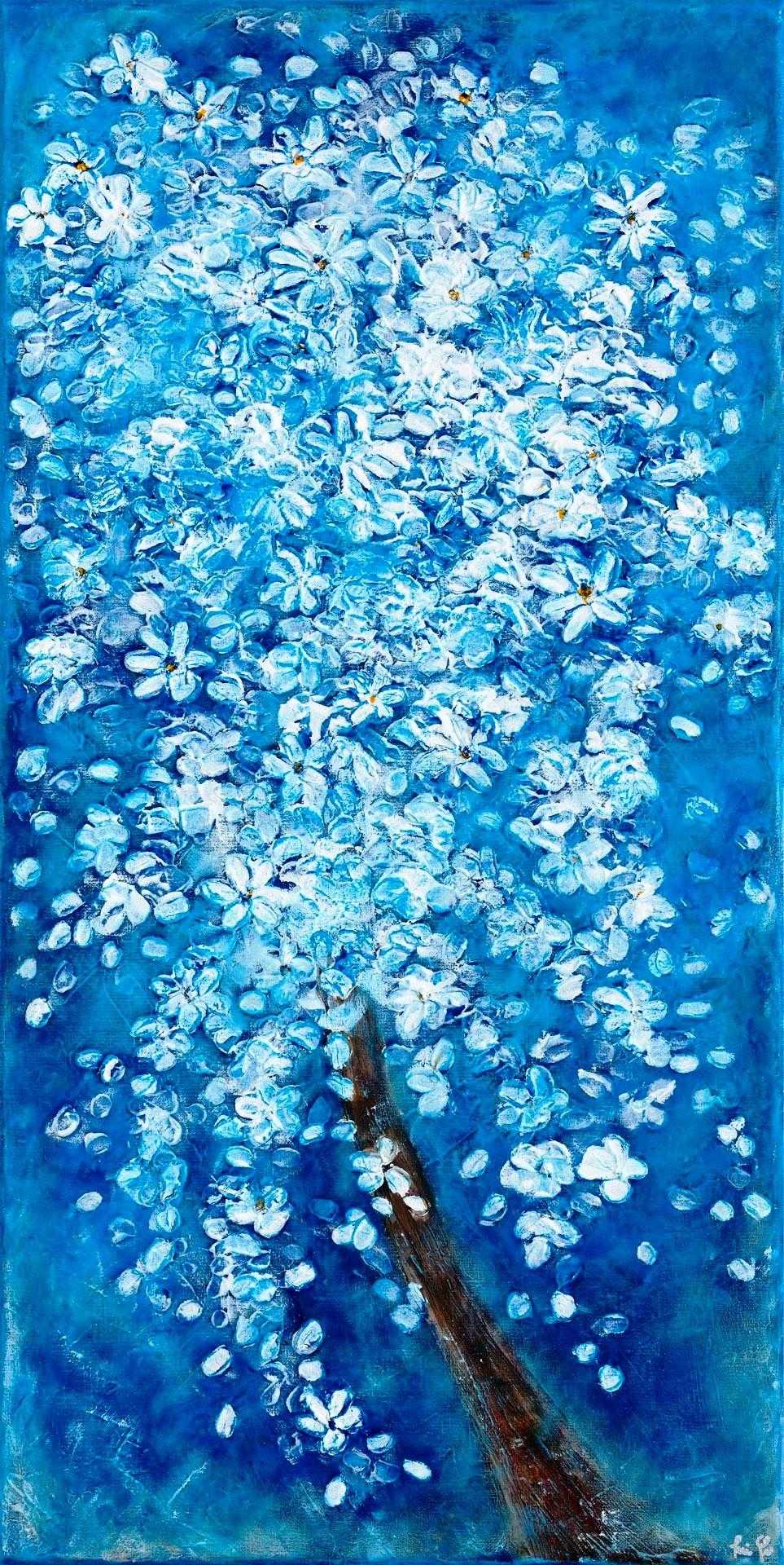 Rozkvitnutý strom Blossom Tree at Night