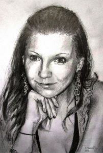 portrait drawing with pencil by Peter Pavluvcik 3.