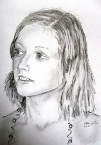 Portrait drawing with pencil by Peter Pavluvcik 1.